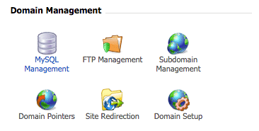 DirectAdmin MySQL management