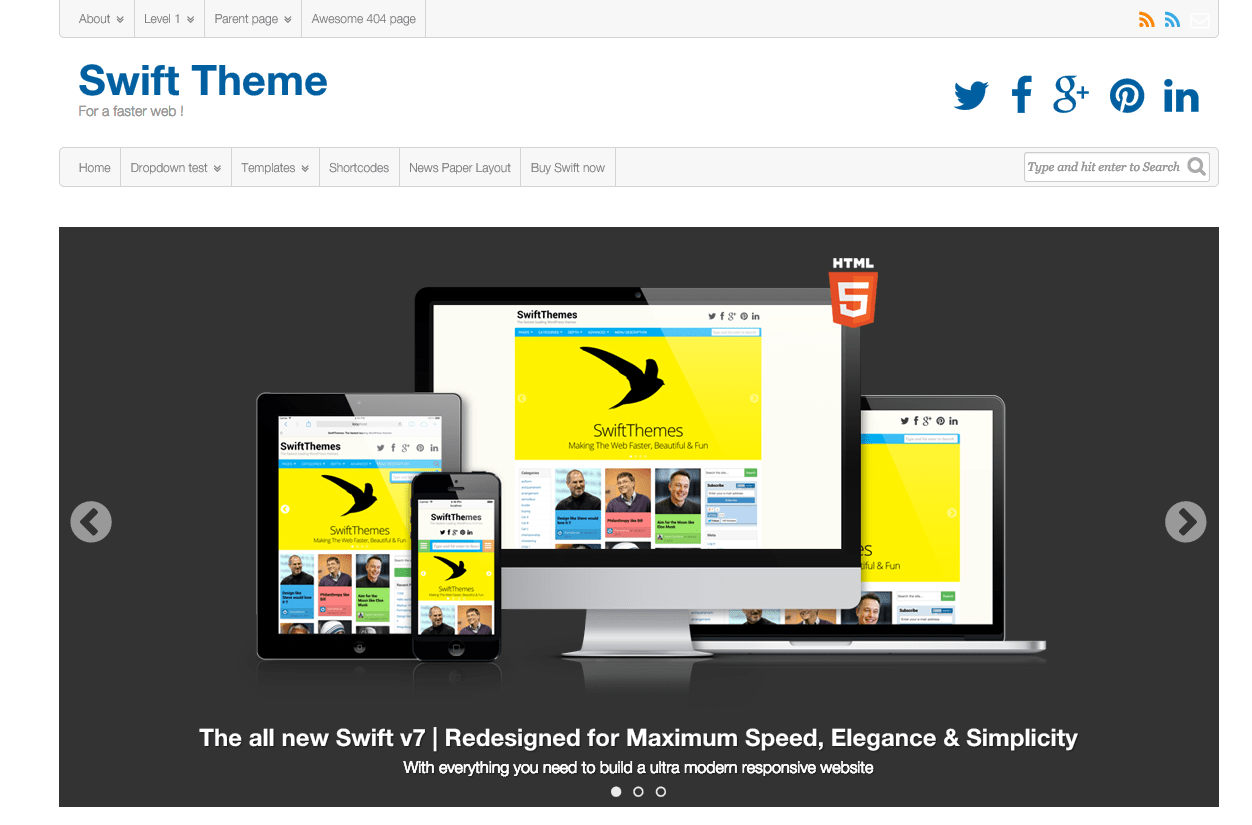Swift theme WordPress