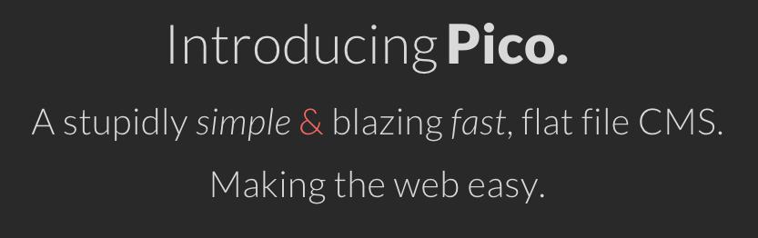 Pico flat file CMS