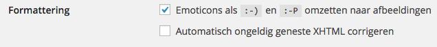 emoji uitzetten WordPress 4.2