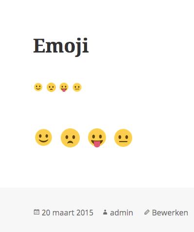Emoji WordPress 4.2