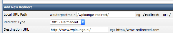 Redirect aanmaken in DirectAdmin