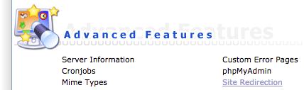 Site Redirection DirectAdmin