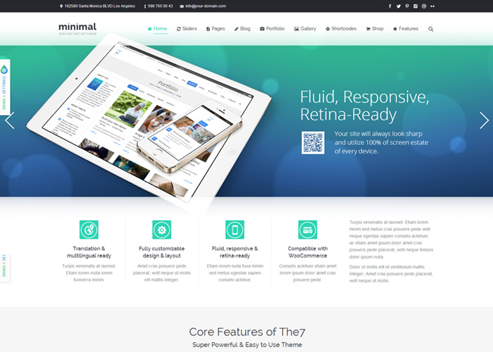 The7: Responsive Retina WordPress Theme