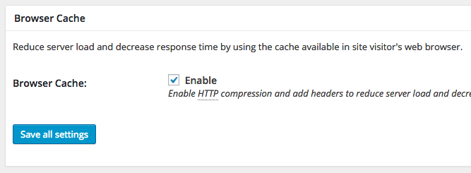 W3 Total Cache Browser Cache