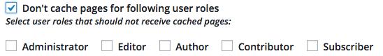 Cache User Roles