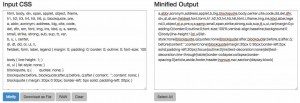 Minified CSS