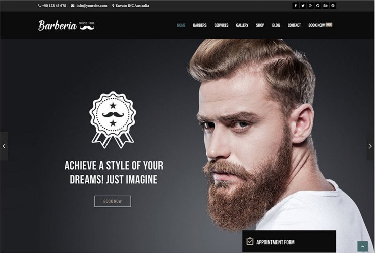 Barberia WordPress theme