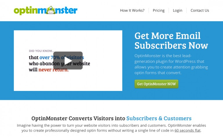 OptinMonster WordPress Aanbieding