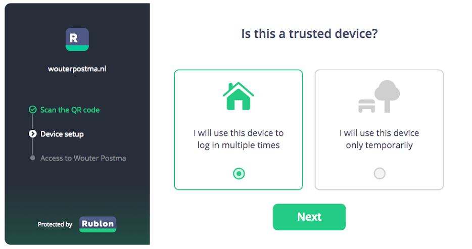 Rublon Trusted Device