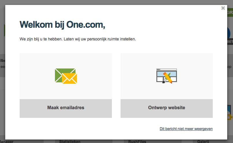 One.com controlepaneel