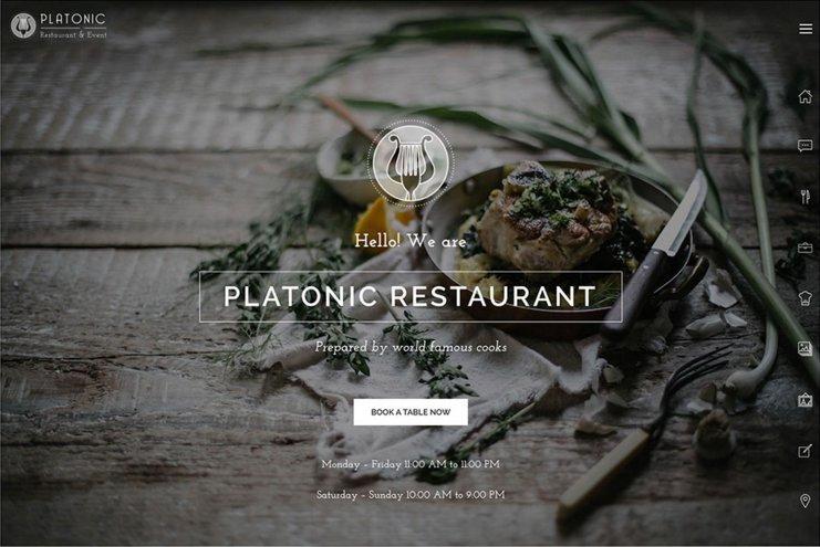 Platonic restaurant WordPress