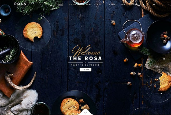 ROSA theme WordPress café