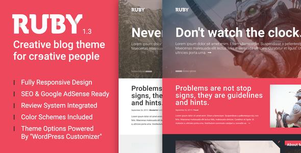 Ruby-creative-wp-theme