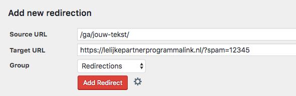 Redirect aanmaken