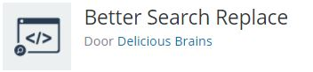 Better Search and Replace