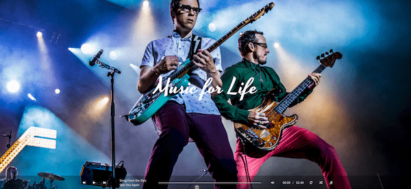 Hugo WordPress theme voor muzikanten en bands