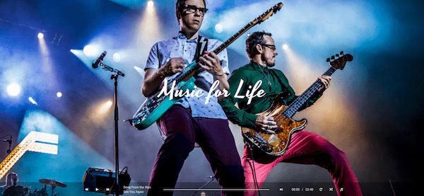 Hugo WordPress theme voor muzikanten en bands