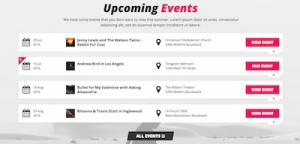 TheArtist - Lijst van evenementen/gigs