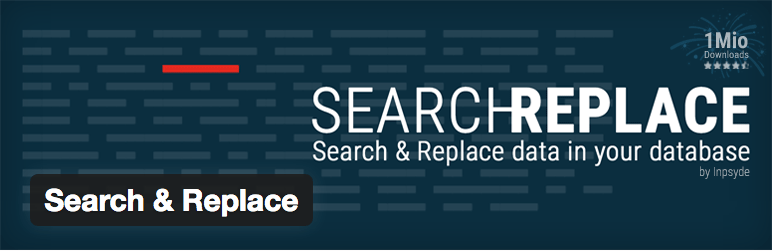 WordPress Search & Replace