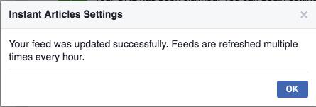 RSS Feed WordPress Facebook