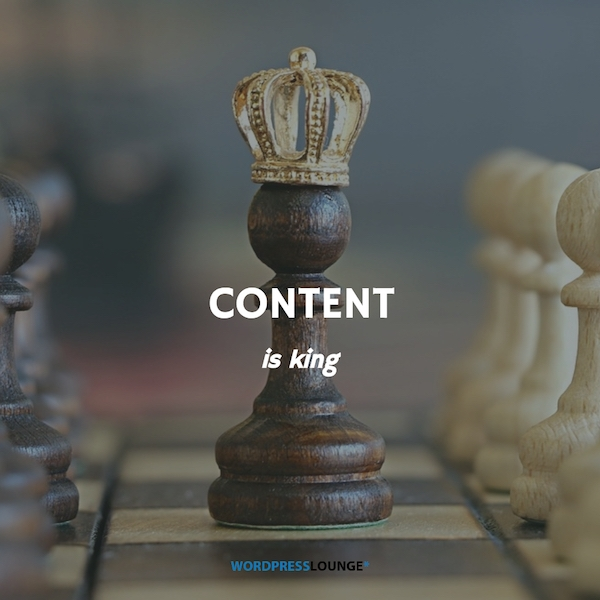 Content is King WPLounge