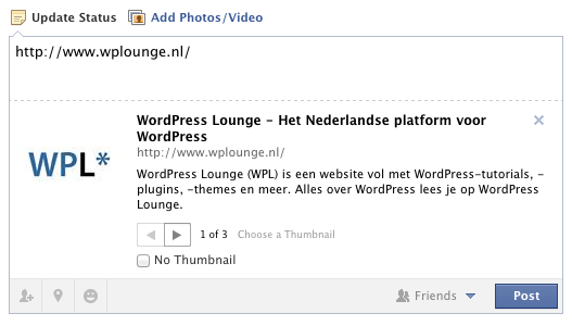 WordPress SEO: Delen op Facebook met OpenGraph