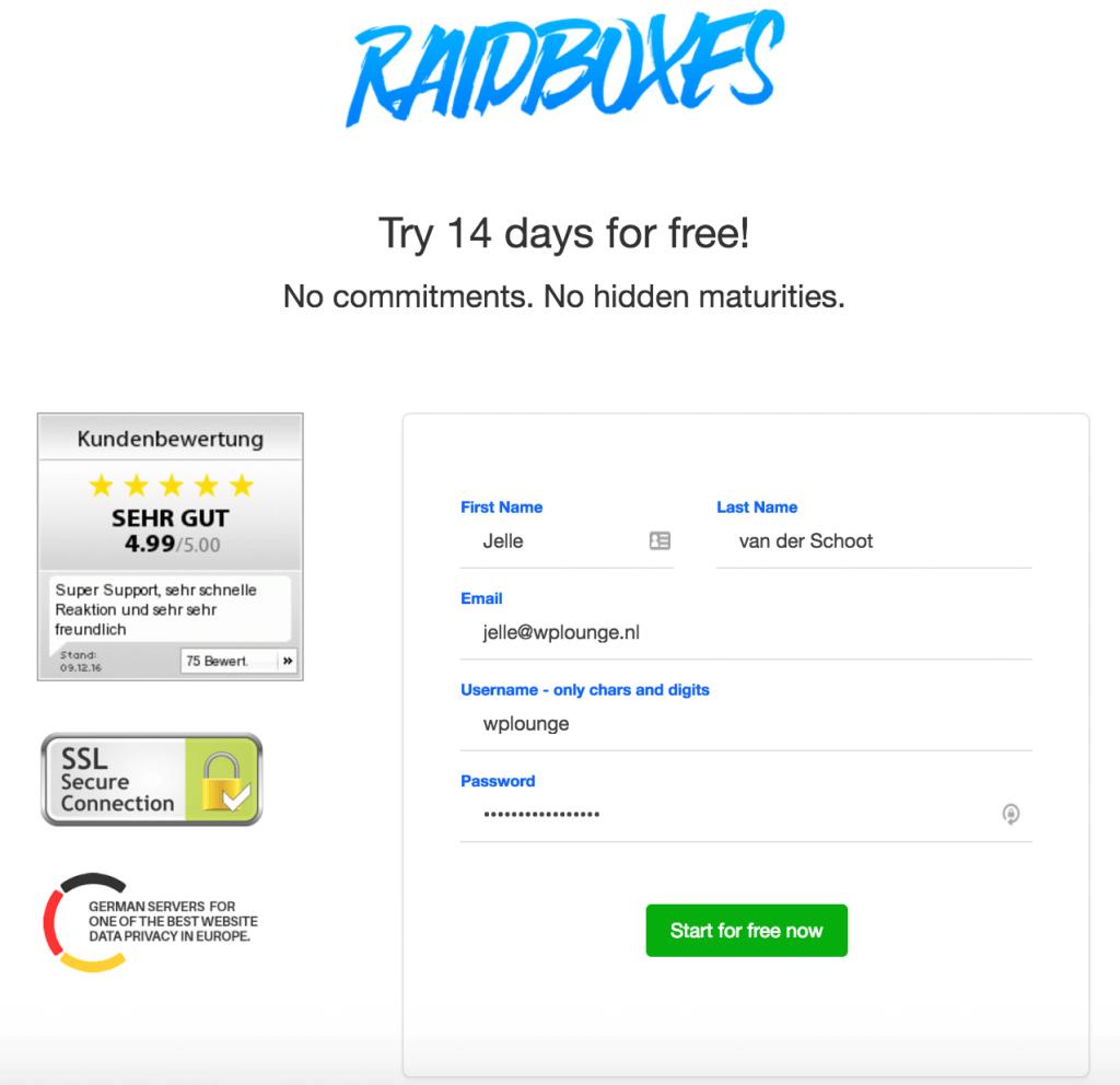 Raidboxes Starter pakket
