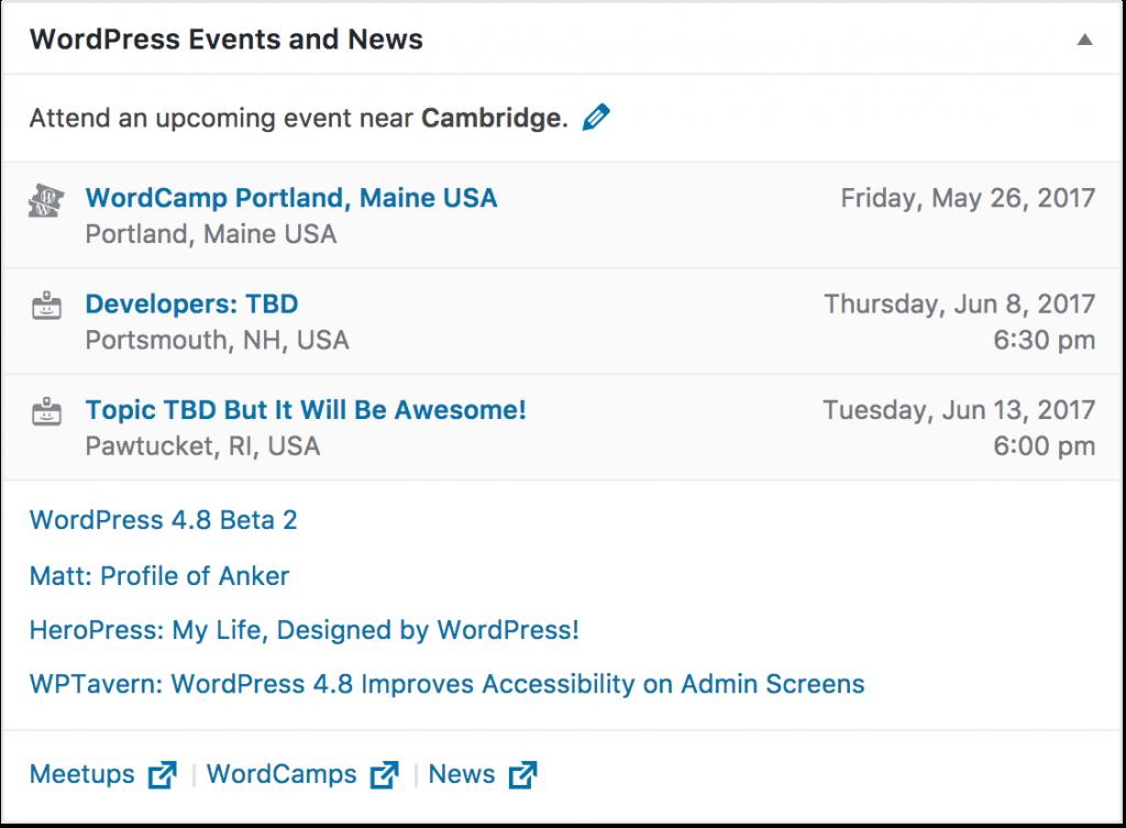 WordPress events bij jou in de buurt