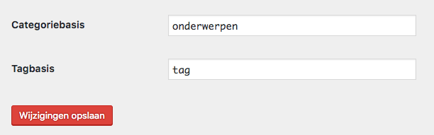 Categorieën en tags