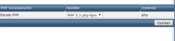 PHP versie terugzetten in DA