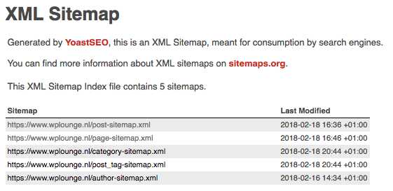 xml sitemaps in wordpress met yoast seo je website laten