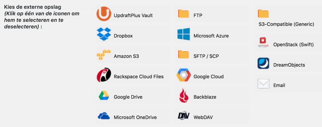 Diensten voor backups