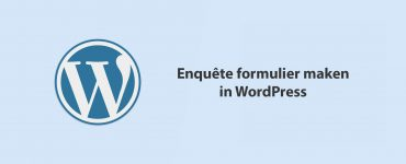 Enquête formulier maken in WordPress