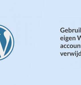 Gebruikers hun eigen WordPress-account laten verwijderen