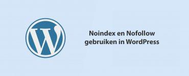 Noindex en Nofollow gebruiken in WordPress