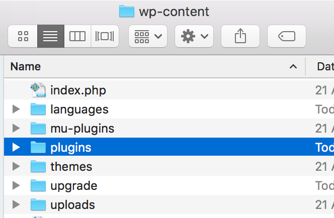 Plugins folder in wp-content