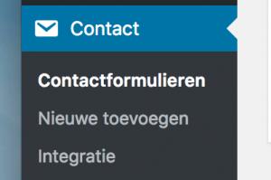 Contact Form 7 menu