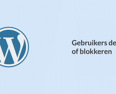 WordPress gebruiker deactiveren zonder het account te verwijderen