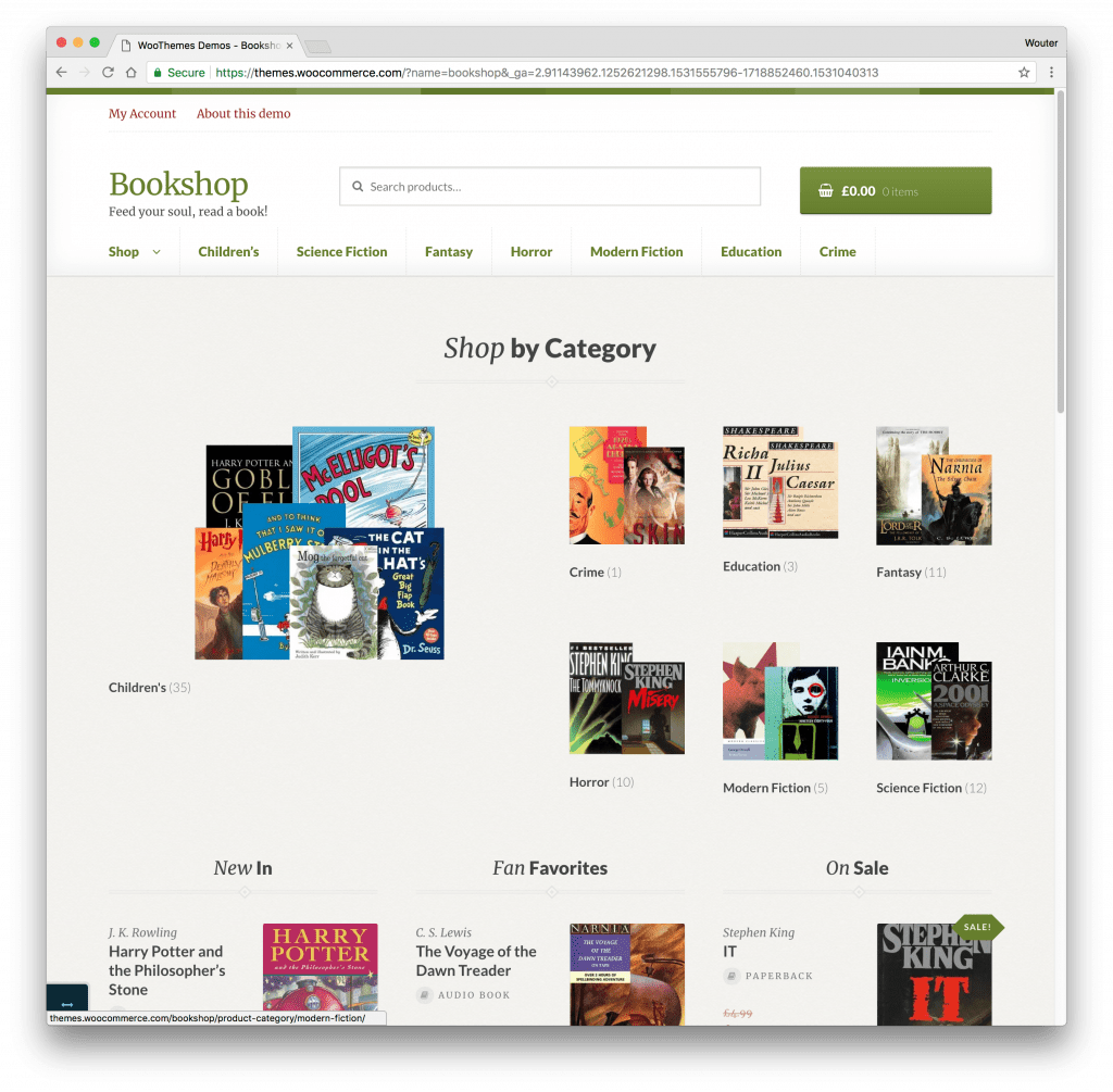 Bookshop WooCommerce theme