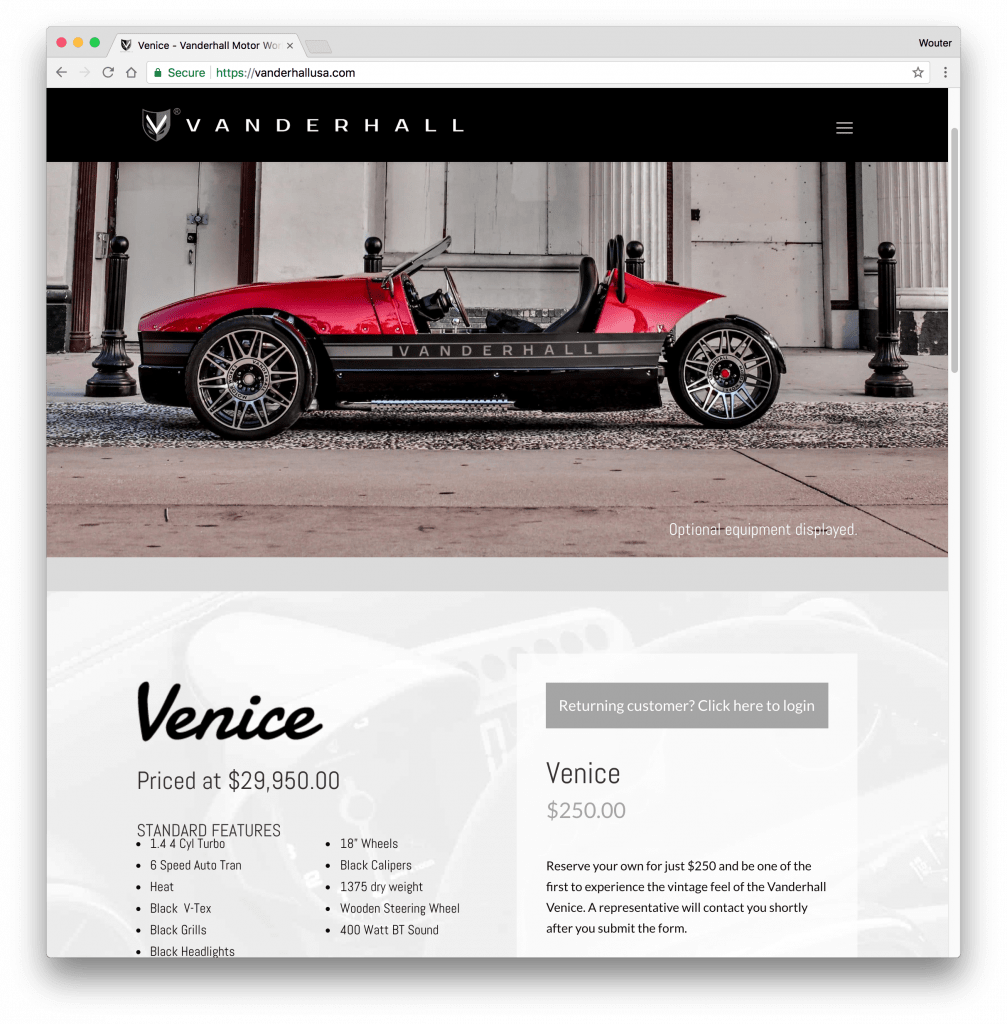 Divi WooCommerce webshop voorbeeld