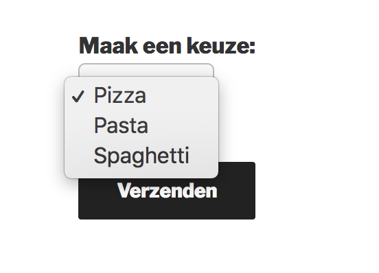 Drop down menu op je website