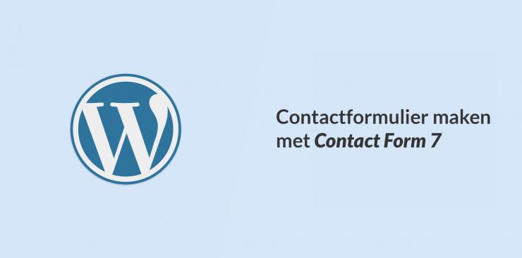 Een contactformulier maken met Contact Form 7