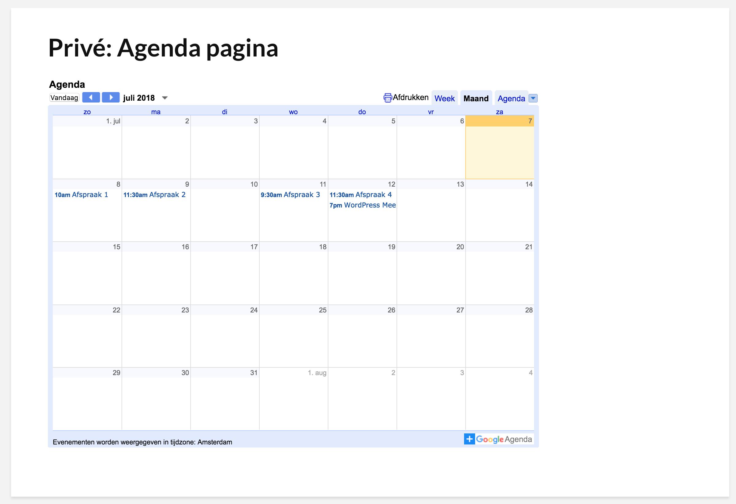 Google agenda toevoegen aan wordpress embed je google for Agenda lantaren venster