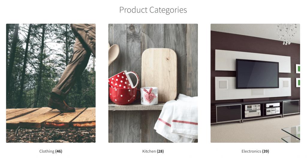 Productcategorieën