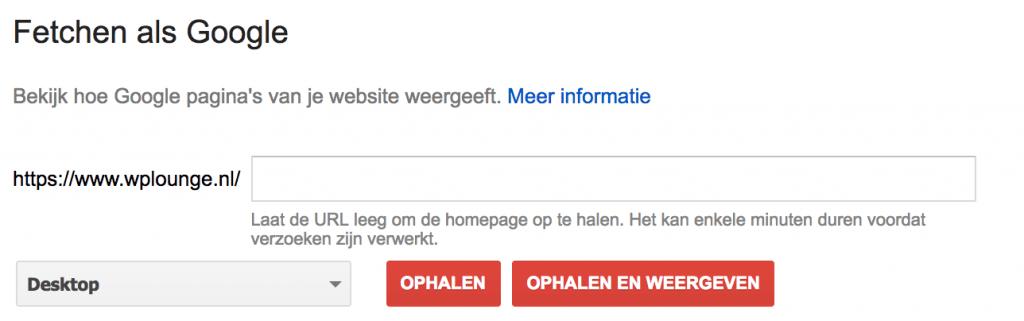 URL Fetchen als Google