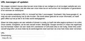 URL toevoegen aan Google