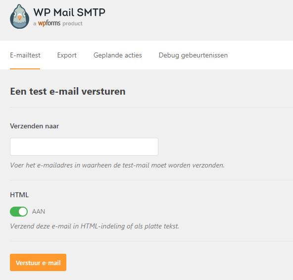 WP Mail SMTP testen