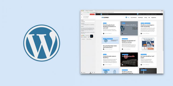 Wat is de WordPress Customizer en wat kun je ermee?