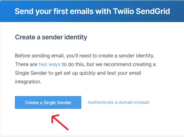 Create a single sender